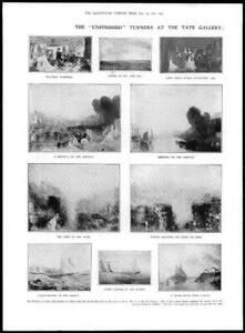 1906-FINE-ART-Antique-Print-Unfinished-Turners-Tate-Gallery-Solent-Dido-186