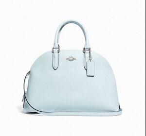 eb4aa283d Coach 30951 Sky Blue Polished Pebble Leather Quinn Satchel Handbag ...