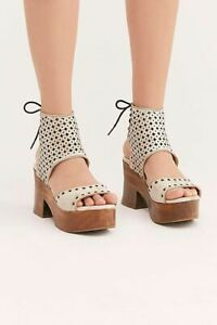 White Mollie Platform Sandal Clog Sz