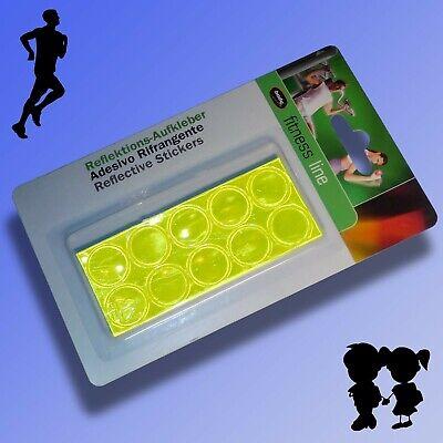 10 selbstklebende Reflektions Punkte Ø20mm Reflektoren Sticker Aufkleber