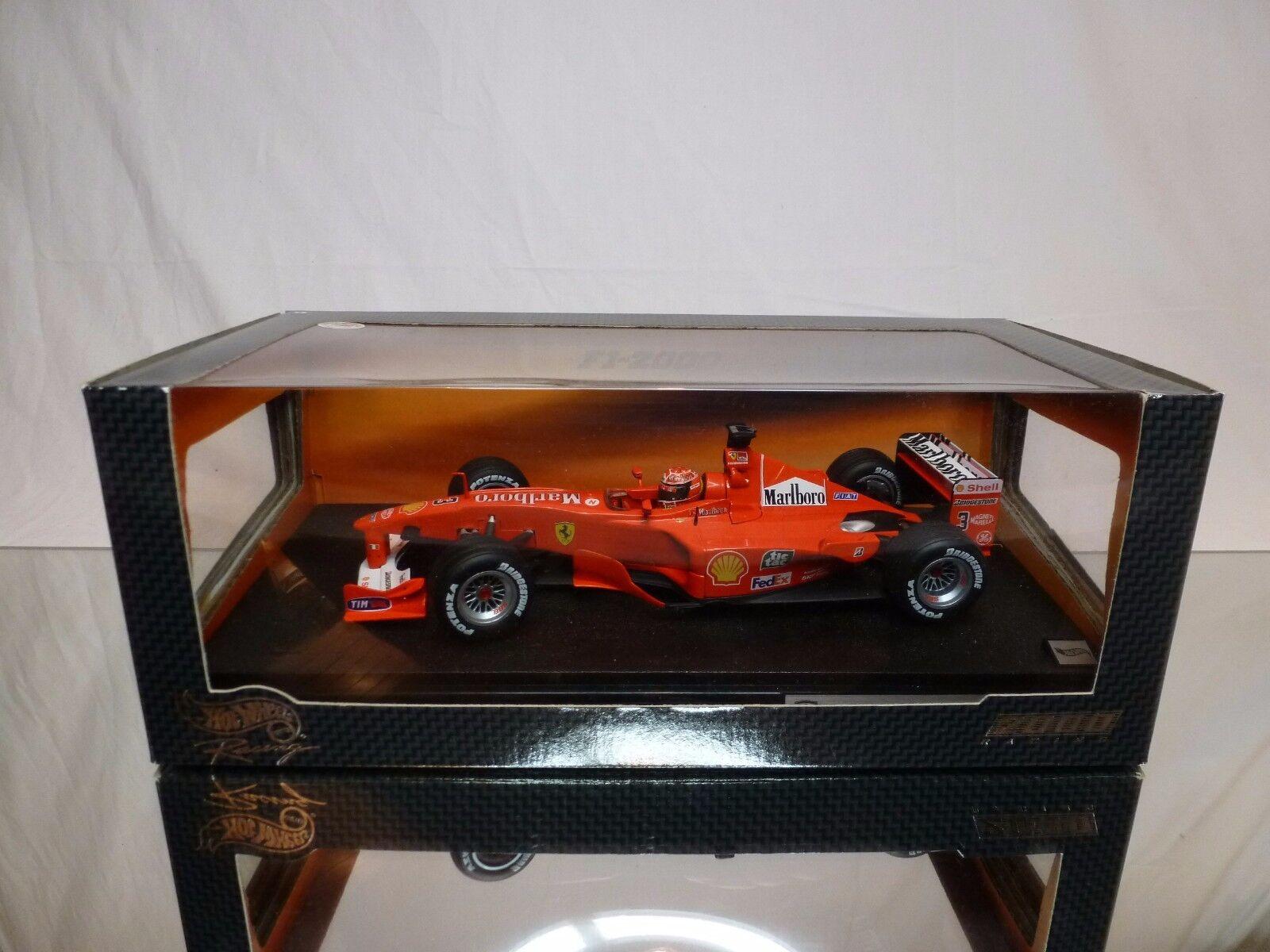 HOT WHEELS 26737 FERRARI F1-2000 - SCHUMACHER F1 1 18 RARE - EXCELLENT IN BOX