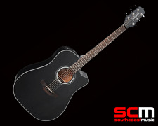 Takamine GD30 CE BLK Dreadnought Black Finish Cutaway Acoustic Electric Guitar