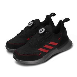 Details about adidas RapidaRun Boa K Black Red Kids Preschool Running Shoes FU7314