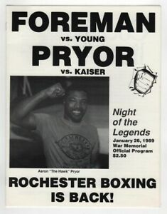 1989-George-Foreman-v-Mark-Young-Program-1-26-Rochester-War-memorial-Ex-MT