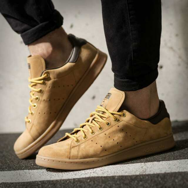 finest selection 9871e 1becd ADIDAS STAN SMITH WP MENS BROWN LEATHER SHOES HAMBURG SUEDE GAZELLE B37875  NEW