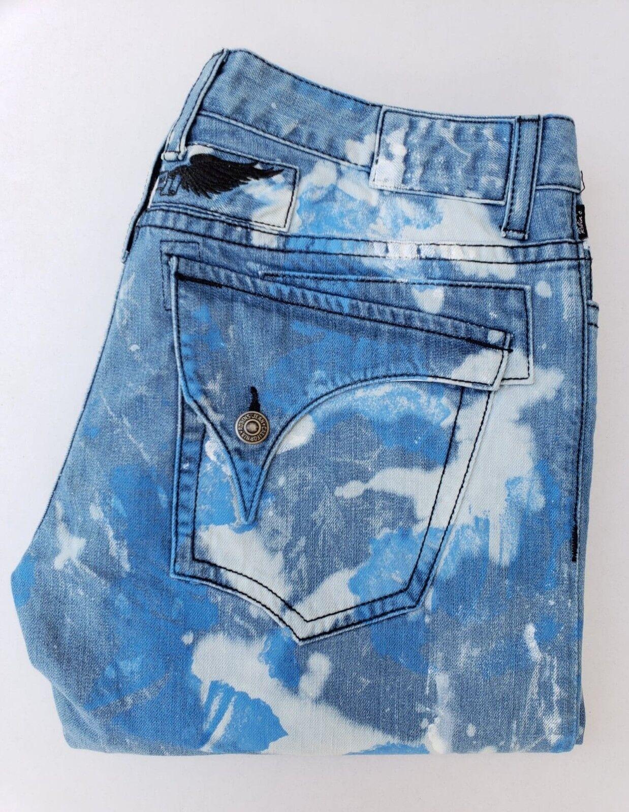 Neu Herren ROTKEHLCHEN Jeans Größe 44 Schmal Gerade Jeans -schwarz Wings   Blau