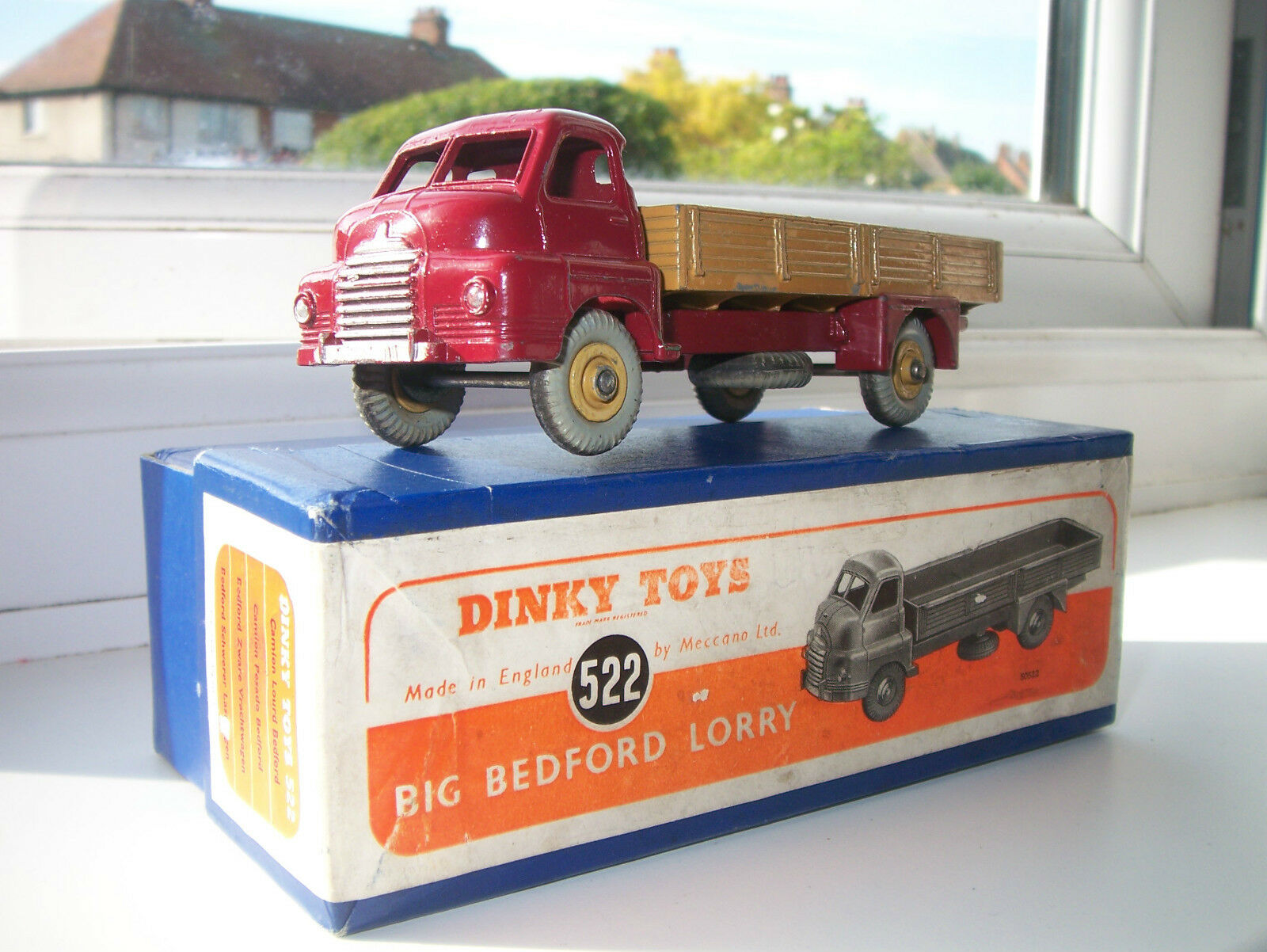 AUTHENTISKA prydlig leksaker No 522 STOR BESDORD LORRY -låda