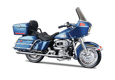 Harley-Davidson 2002 FXSTB Night Train blau 1:18 Motorrad Modell die-cast model
