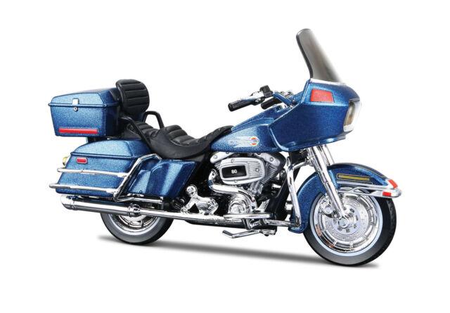 Harley-Davidson 1980 Flt Tour Glide Blue 1:18 Motorcycle Model Die-Cast Model