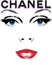 Chanel Colour Deco Haute Couture Face Poster Print