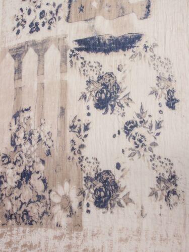 CASPAR Damen Vintage Schal Halstuch Muster USA FLagge Flower Print Schwarz NEU