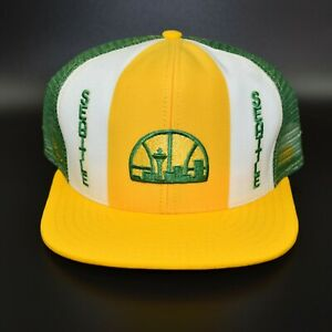 Seattle-Sonics-Supersonics-AJD-Lucky-Stripes-NBA-Vintage-80-039-s-Snapback-Cap-Hat