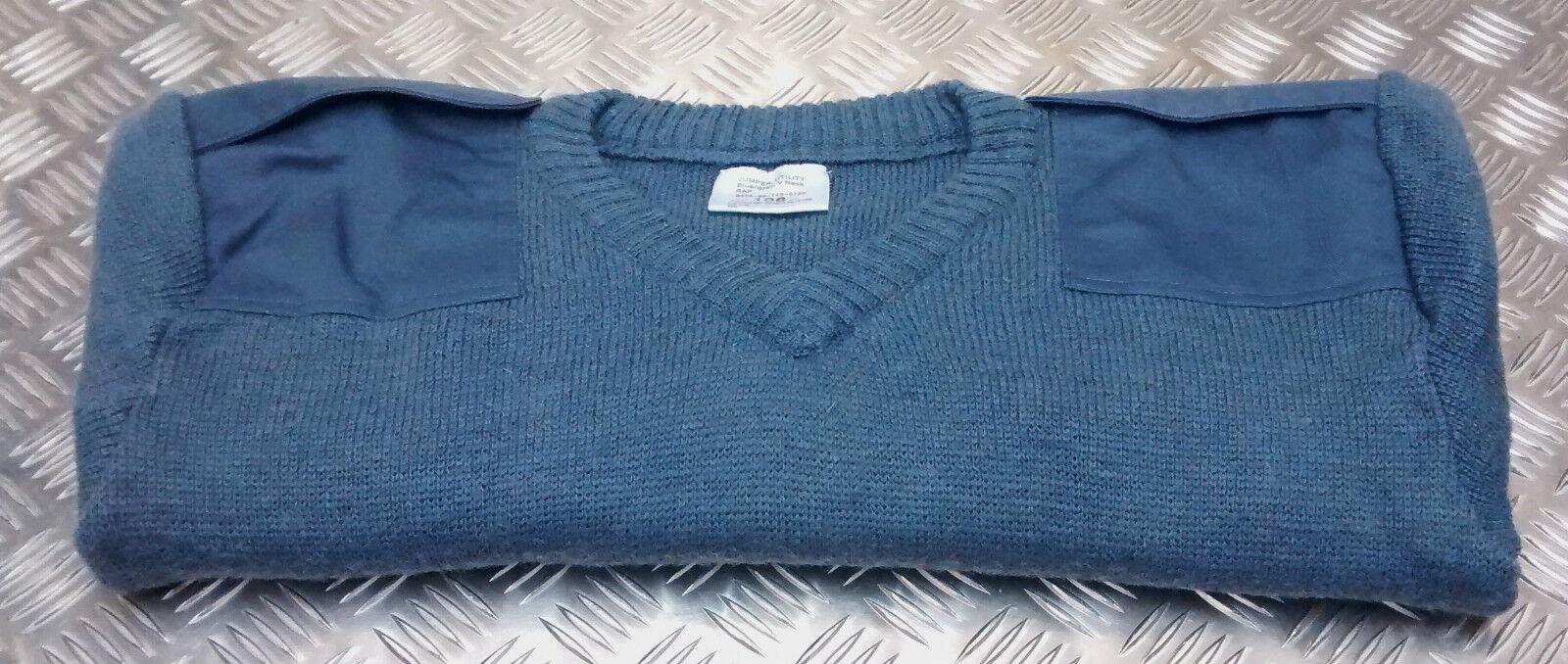 Genuine British RAF Royal Air Force Wool Jumper / Pullover V-Neck - All Sizes