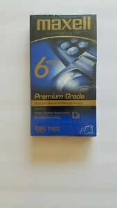 MAXELL Premium VHS 6 Hour T-120 Tapes