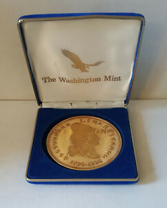 Washington-Mint-1995-Liberty-8-troy-24kt-gold-over-solid-999-silver-round-box