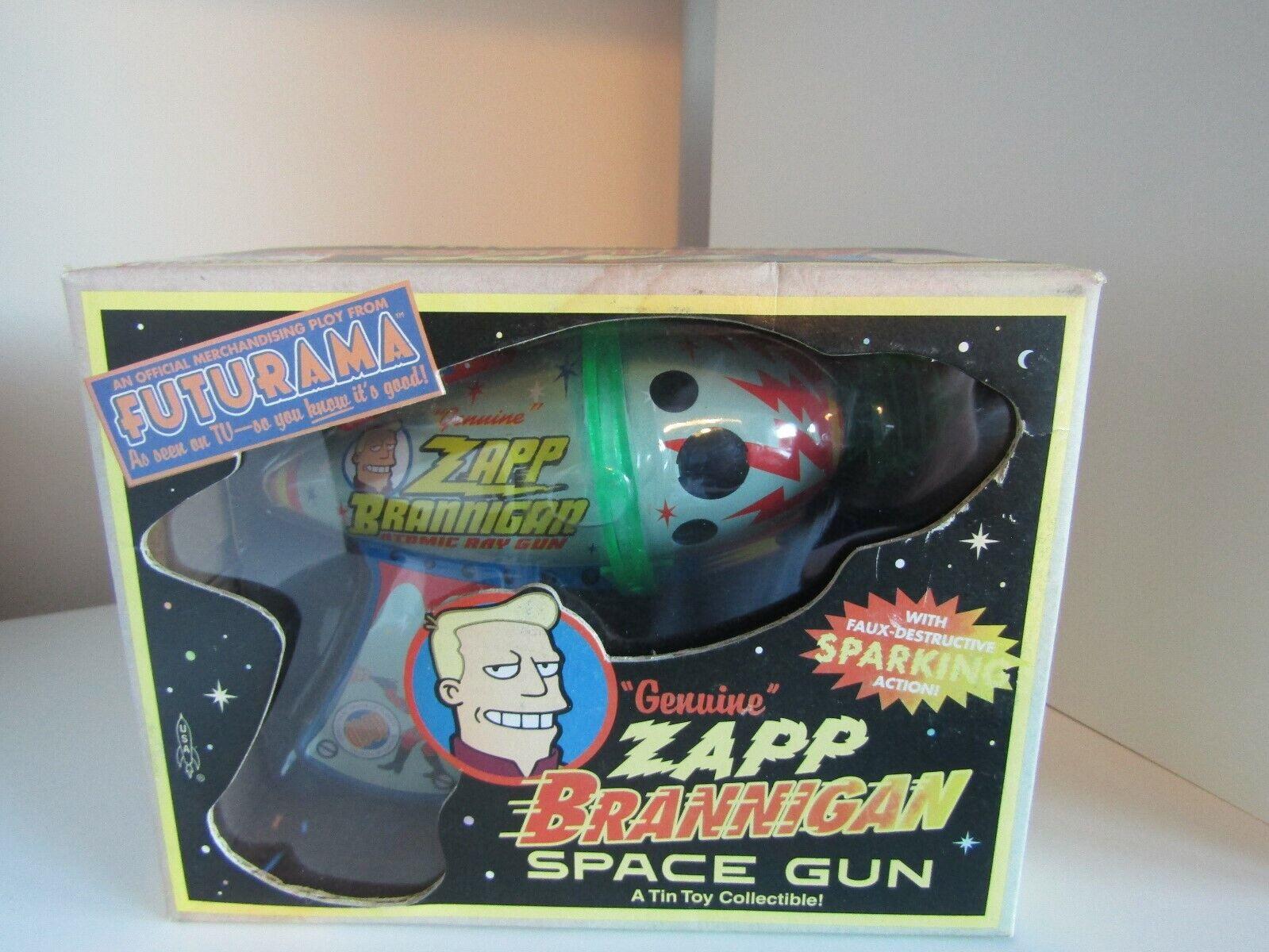 Futurama - Zapp Brannigan - Space Gun - Rocket USA - Boxed - Tin Toy Collectable