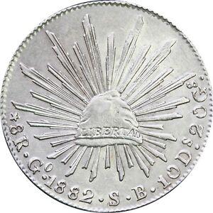 Mexico-8-Reales-Go-1882-S-B-Guanajuato-KM-377-8