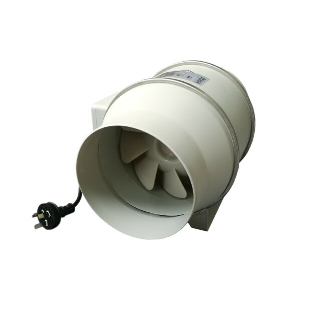 """200mm 8"""" Turbo Fan 2 Speed Inline Fan Industrial Supply Exhaust Bathroom Fan"""