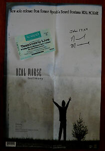Neal-Morse-A3-Testimony-Poster-SIGNED-Testimony-Live-2003-Concert-Ticket