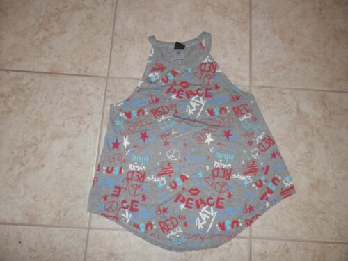 Modern Lux Junior/'s Red White /& Blue USA Tank Top Size L