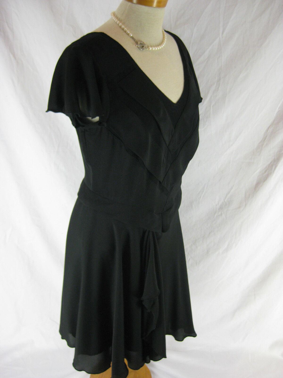 Größe 12 schwarz Tea style day dress by LEONA EDMISTON Main Line- Designer LBD