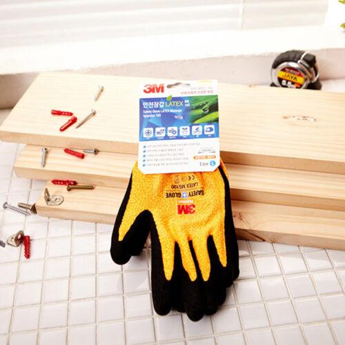 3M Premium Safety Work Gloves Comfort Grip Protective Nitrile Coated KOREA-M//L-Y