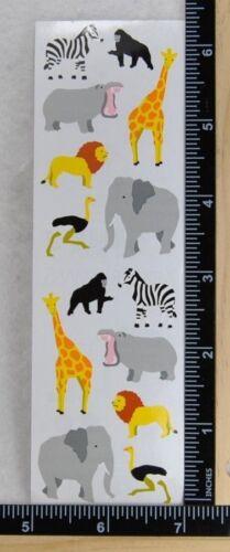 Mrs Grossman WILD ANIMALS SMALL Stickers JUNGLE ZOO ANIMALS