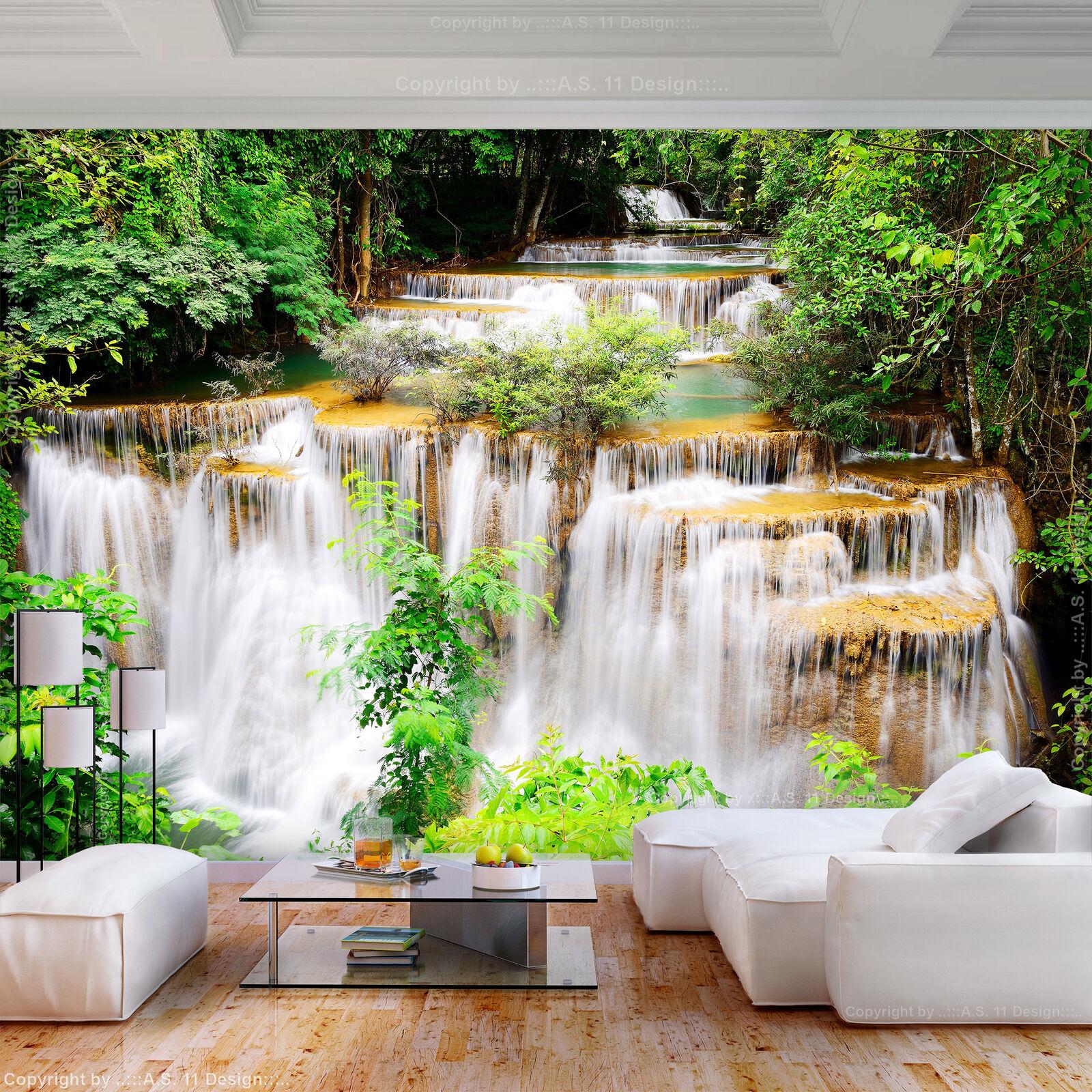 FOTOTAPETE selbstklebend Tapete Wasserfall Wald Landschaft Wandtapete 193