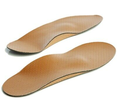 Full Length Leather Orthotic Insole Arch Support Insole Suitable for All Shoes