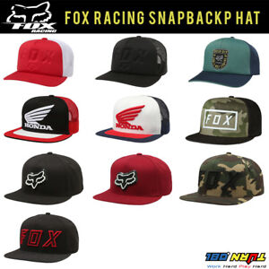 huge selection of b0585 05a33 ... shopping image is loading fox racing men 039 s snapback hat black 66f3d  f3e4a
