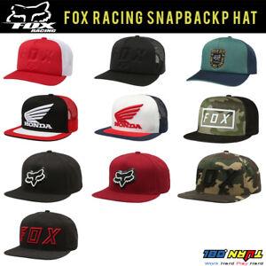 21603465 FOX Racing Men's SNAPBACK Hat Black CAP CAMO Skate Sports Streetwear ...