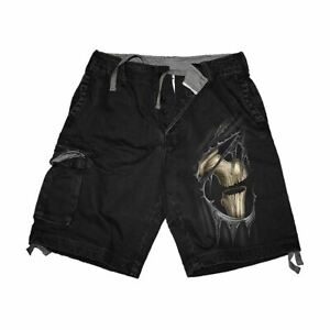 BONE-SLASHER-SHORTS-Vintage-Cargo-Shorts-Black
