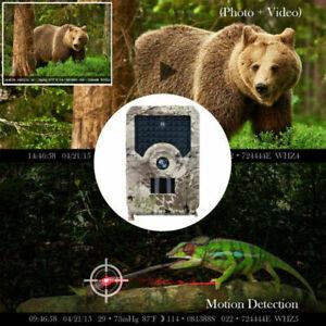 1080P HD Wildkamera Jagdkamera 12MP Nachtsicht 20M//65FT Wasserdicht Fotofalle DE