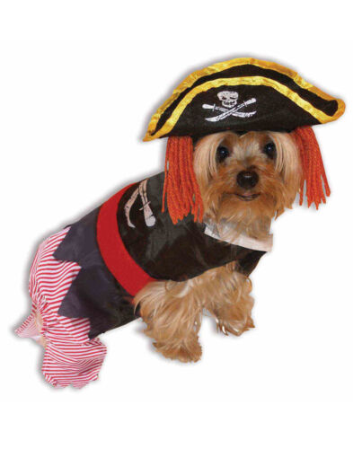 Dog Dress Up Outfit Pirate Buccaneer Pet Halloween Funny Costume