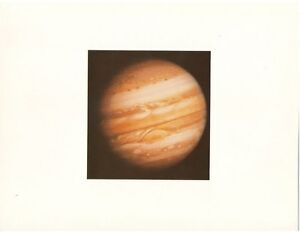 NASA-JPL-VOYAGER-1-Photo-Lithograph-of-Jupiter-w-Clouds-Red-Spot-FREE-Delivery
