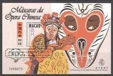 Macao 1998 opera CINESE SCIMMIA Maschere/M/S O/P (b499b)