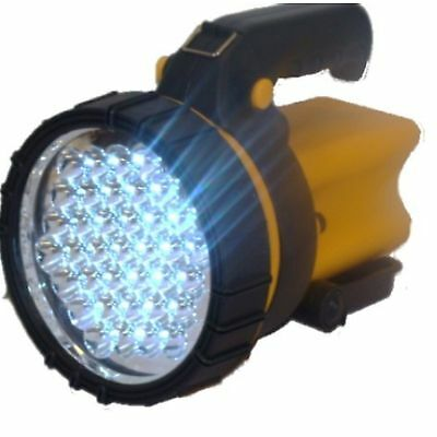 New Rechargeable Torch Heavy Duty 37 LED Tempered Lens Spotlight Bright LI-ION