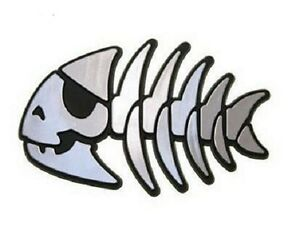 Darwin Car Emblem Chrome-like Evolution Fish with adhesive
