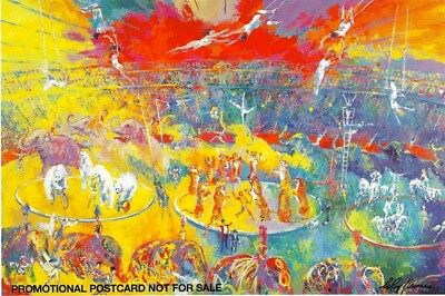 PROMOTIONAL Post Card OPENING CEREMONIES XXIII OLYMPIAD by LeROY NEIMAN 1984