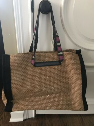 Lanvin Large Raffia Bag