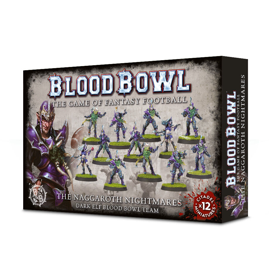 Blood Bowl Naggaredh Nightmares Team Games Workshop Dark Elf Fantasy Football