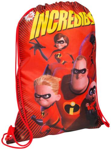 The Incredibles 2 Drawstring Gym Pump Shoe Bag Sports Swimming Kids Shoulder Bag