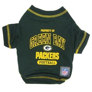 Green-Bay-Packers-NFL-Licensed-Pets-First-Dog-Tee-Green-Sizes-XS-XL