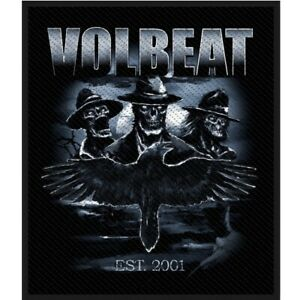 Volbeat-Outlaw-Raven-Patch-Official-Heavy-Metal-Rock-Band-Merch-New
