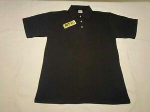 Para-Hombres-Camisa-Polo-Negro-Tamano-Grande-RTY-RT01-ropa-de-trabajo-pesado-deber-Workwear-Nuevo