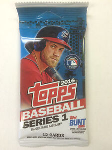 TOPPS-BASEBALL-2016-SERIES-ONE-1-SEALED-PACK