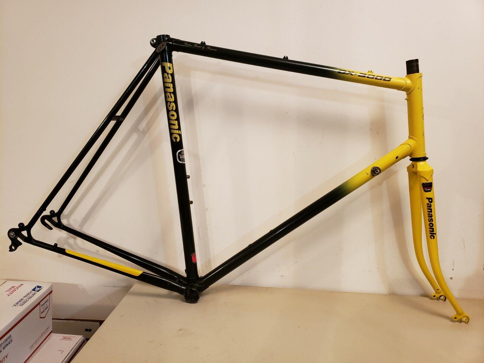 Panasonic DX-3000 Road Bike Frameset...60cm...Tange 2 Double Bumblebee...Bicycle