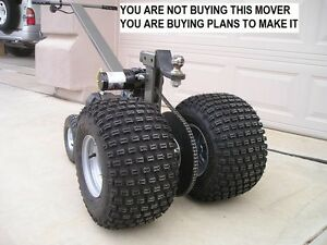 """TRAILER MOVER """"PLANS""""- 12V HEAVY DUTY Version, Dolly Electric"""