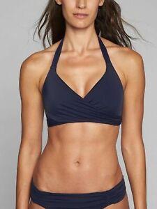 2d0f682925e5b NWT Athleta Wrap Halter Bra Cup Bikini Swim Top, Dress Blue, sz 34D ...
