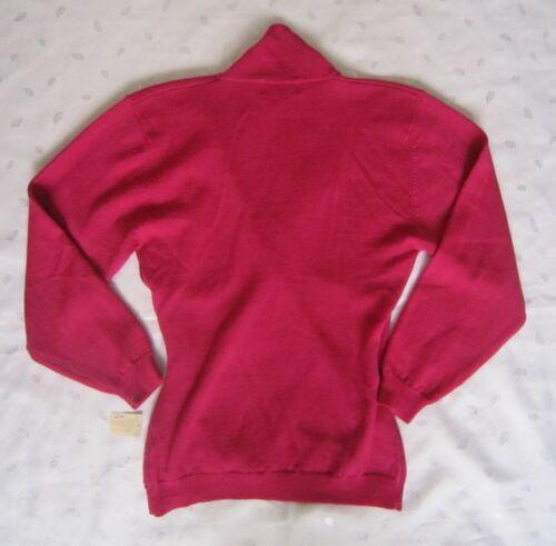 doppiopetto Courtney Maglione in 100 merino S Rhodes Nwt lana taglia scuro rosa dwqTXqxZ4r